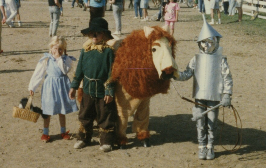 """""""We were our mother's guinea pigs for the yearly county fair costume class. At the time, we hated it. But to her credit, we won the trophy every time."""" — submitted by <a href=""""http://equestrianshaming.tumblr.com/"""">equestrianshaming</a>"""