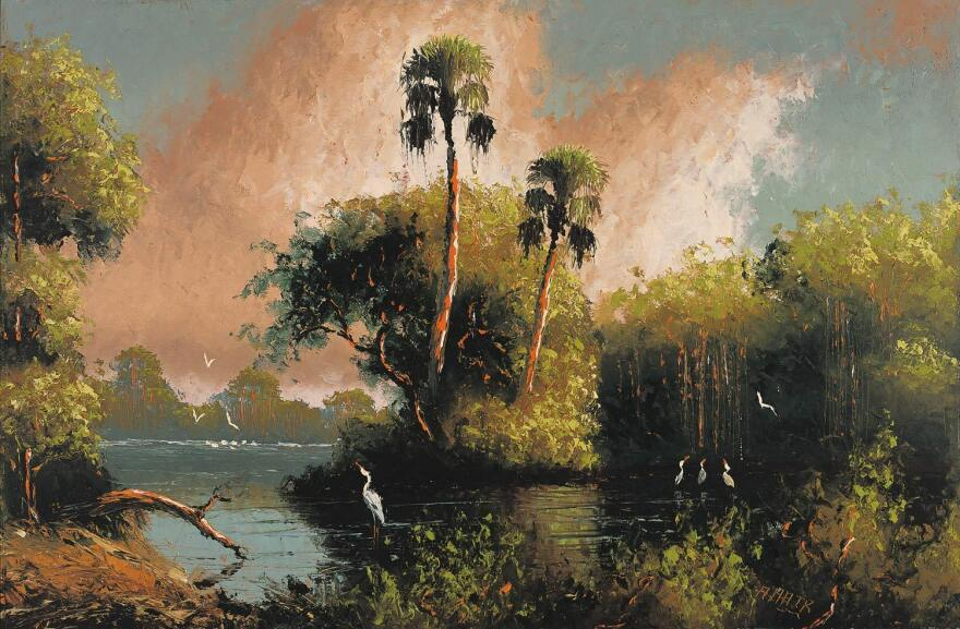 A Florida landscape painting by Alfred Hair