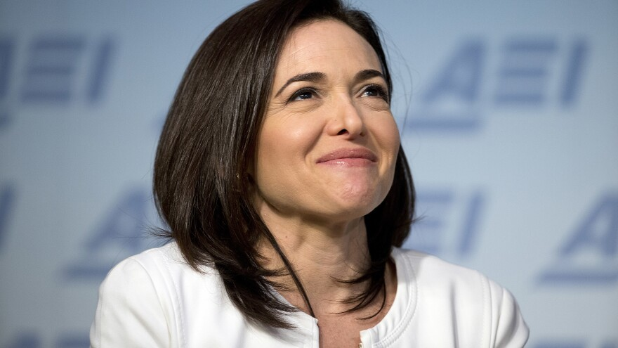Facebook Chief Operating Officer Sheryl Sandberg speaks at the American Enterprise Institute in 2016.