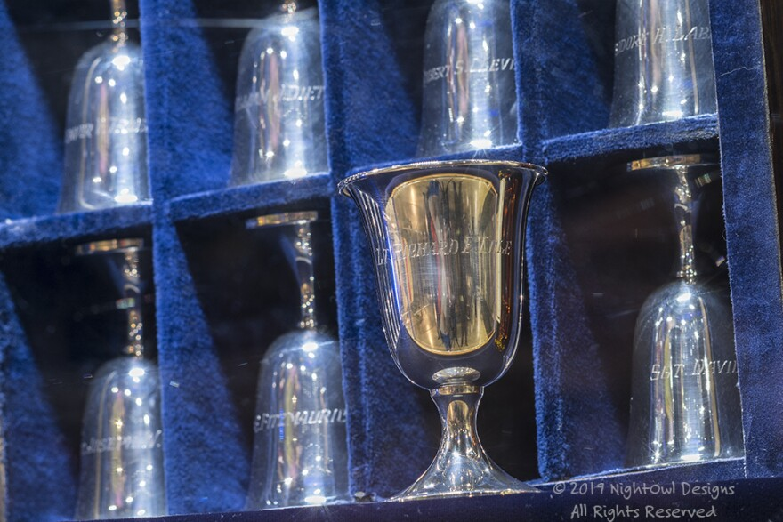 Since 1959, the Doolittle Tokyo Raiders' reunions involved a set of 80 name-engraved silver goblets, kept in a velvet-lined box. Each year - following a toast, the goblets of those who died in the previous year were turned upside down. Since July of 2016,