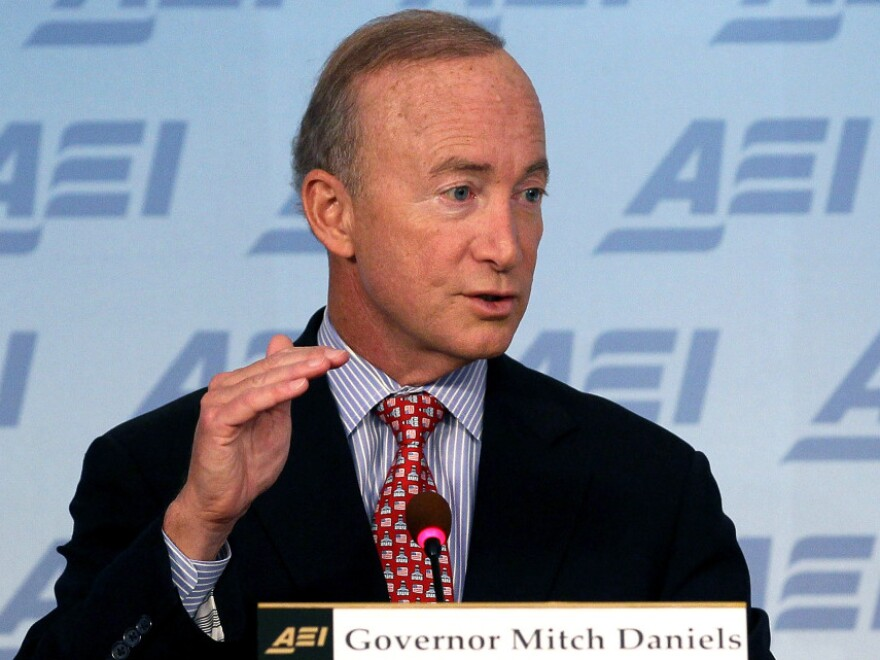 Social Security has been compared to Ponzi schemes for decades, says Indiana Gov. Mitch Daniels. In his new book, he lays out ideas for improving the system.