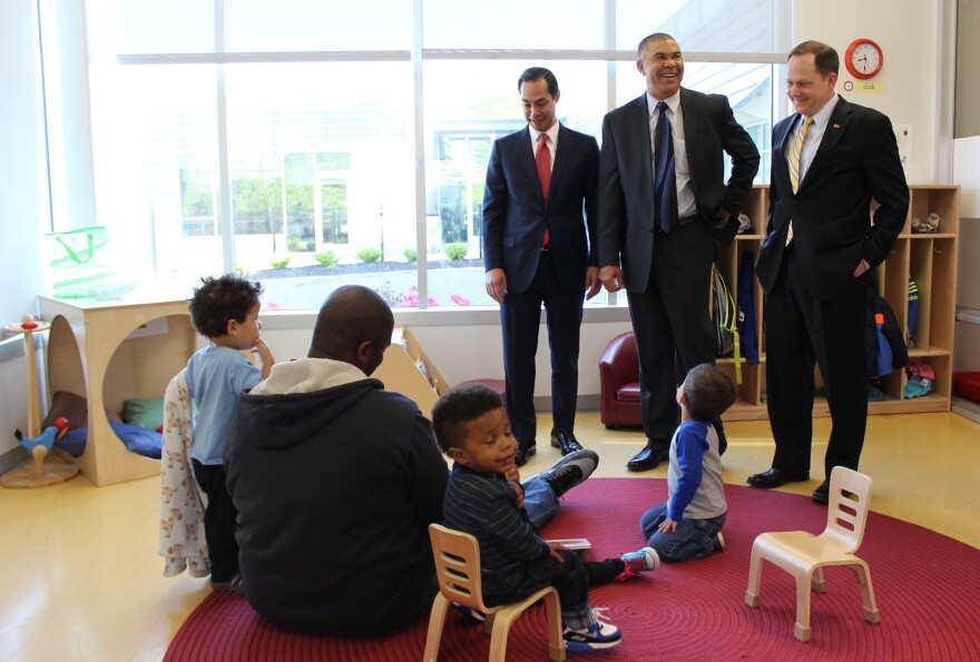 Before Tuesday's announcement, Castro, Clay and Slay toured the Flance Early Learning Center in north St. Louis.