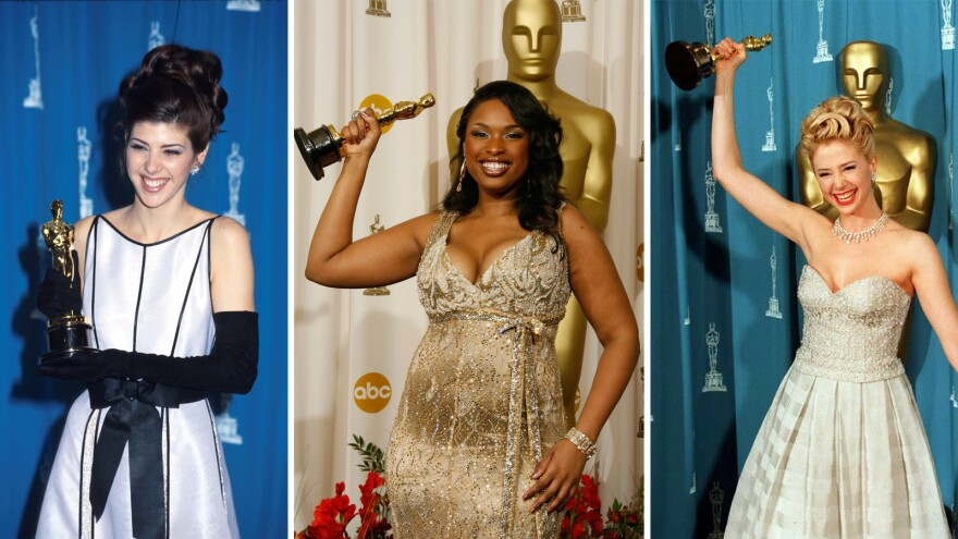 "As legend has it, women's film careers are ""cursed"" by winning the best supporting actress Academy Award. (From left) winners Marisa Tomei in 1993, Jennifer Hudson in 2007 and Mira Sorvino in 1996."