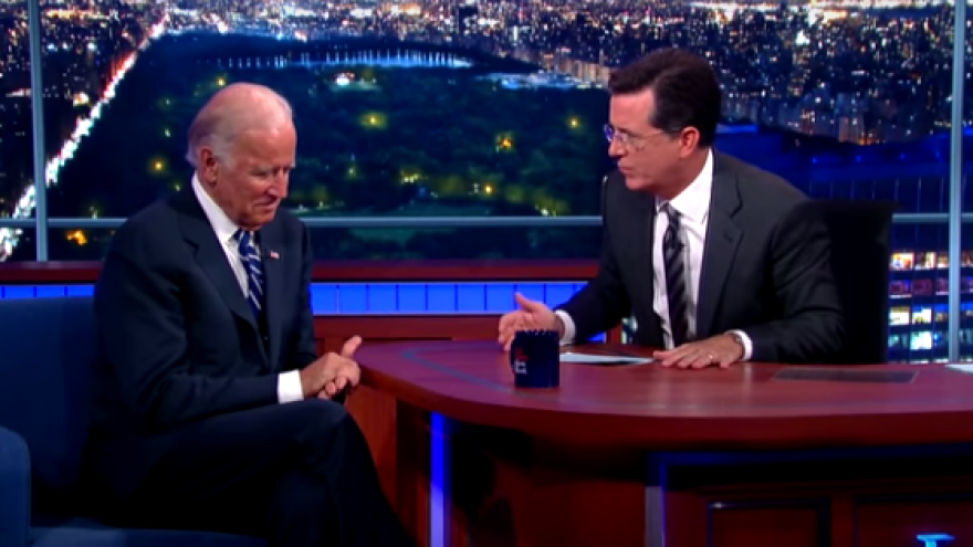 During Vice President Biden's interview with new <em>Late Show</em> host Stephen Colbert, the two men talked about tragedy in their lives.