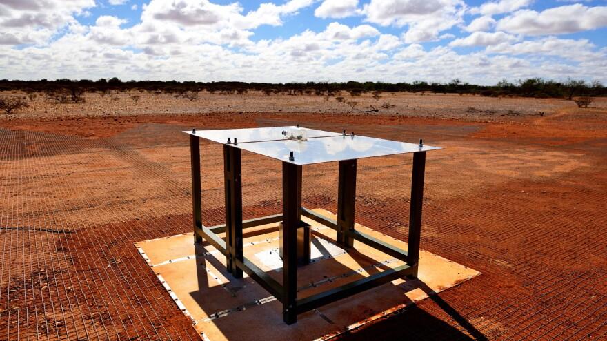 The EDGES ground-based radio spectrometer, CSIRO's Murchison Radio-astronomy Observatory in Western Australia.