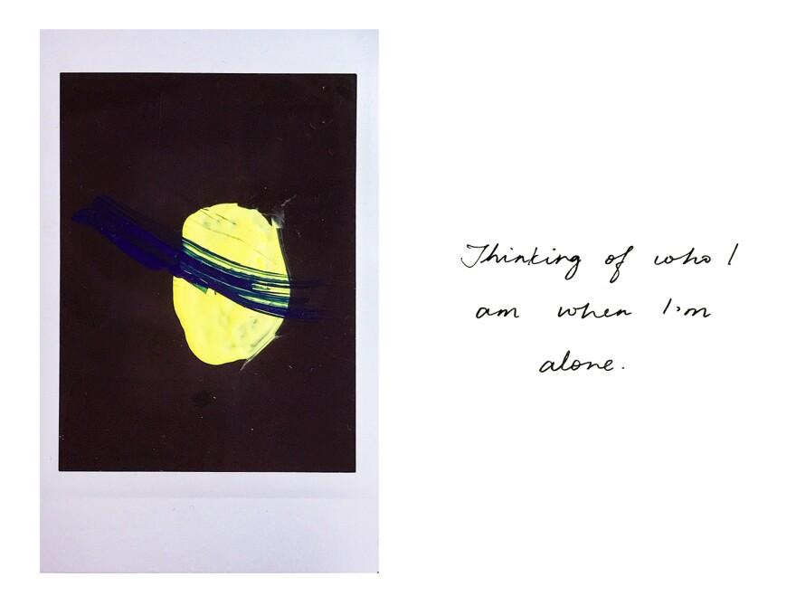 Thinking of who I am alone.