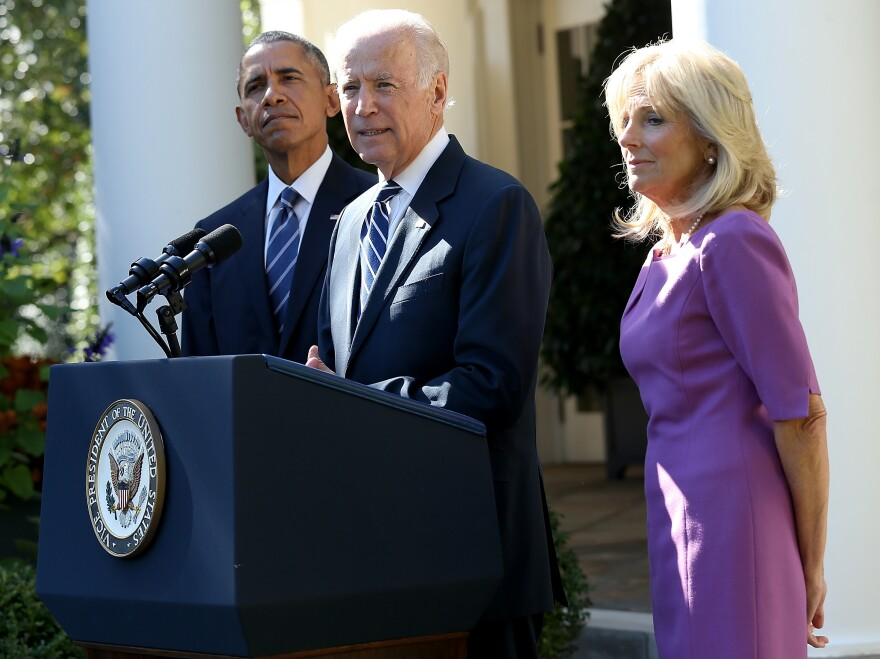 On Oct. 21, 2015, then-Vice President Joe Biden appeared alongside his wife Jill and President Obama to announce that he would not run for president 2016, in the aftermath of his son Beau's death from brain cancer.