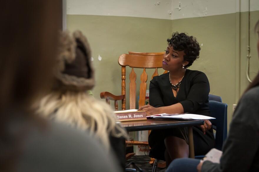 St. Louis Public Schools Elected Board President Susan Jones at an April 12, 2017 meeting.