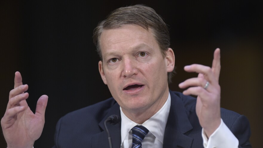Kevin Mandia, chief executive officer of the cybersecurity firm FireEye, testifies before the Senate Intelligence Committee in 2017. Mandia's company was the first to sound the alarm about the massive hack of government agencies and private companies on Dec. 8.