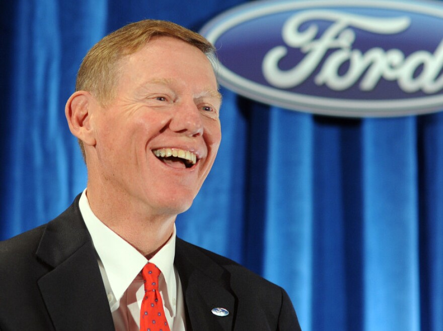 Journalist Bryce Hoffman describes Ford CEO Alan Mulally as an older version of Ron Howard's character from the sitcom <em>Happy Days</em>.
