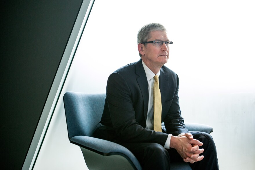 "Apple CEO Tim Cook says creating new software to break into a locked iPhone would be ""bad news"" and ""we would never write it."" He spoke with ABC News' <em>World News Tonight with David Muir</em>."