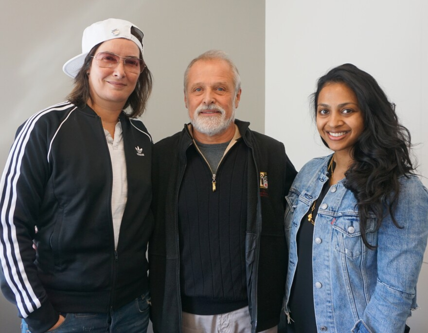(L-R) Allyson Mace, Bill Cardwell and Meera Nagarajan joined Friday's talk show to reflect on Sauce Magazine's impact on the local dining scene.
