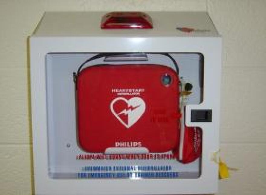 Lawyers for the Lee County School District say state law only requires a defibrillator be on school grounds, not that it's actually used.