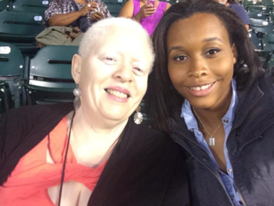 Natalie Devora sits with her daughter, Jewel Devora.