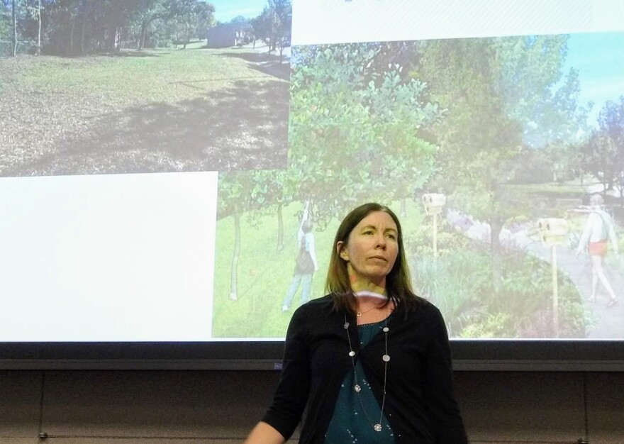 Erin Oliverio, the city of Charlotte's Tree Canopy Program manager, spoke at Tuesday's TreesCharlotte Big Tree Summit.