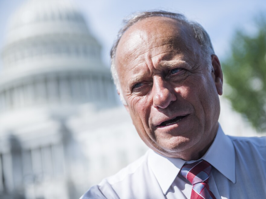 Iowa Republican Rep. Steve King attends a rally earlier this year on the East Front of the Capitol to highlight crimes committed by illegal immigrants in the U.S.