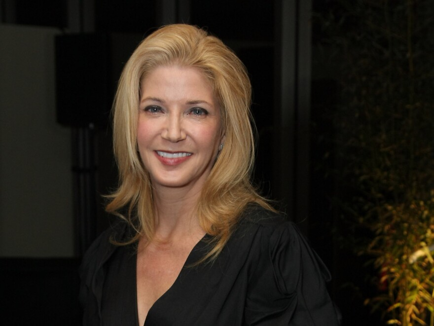 Author Candace Bushnell attends the March 2010 DVF Awards at the United Nations in New York City.