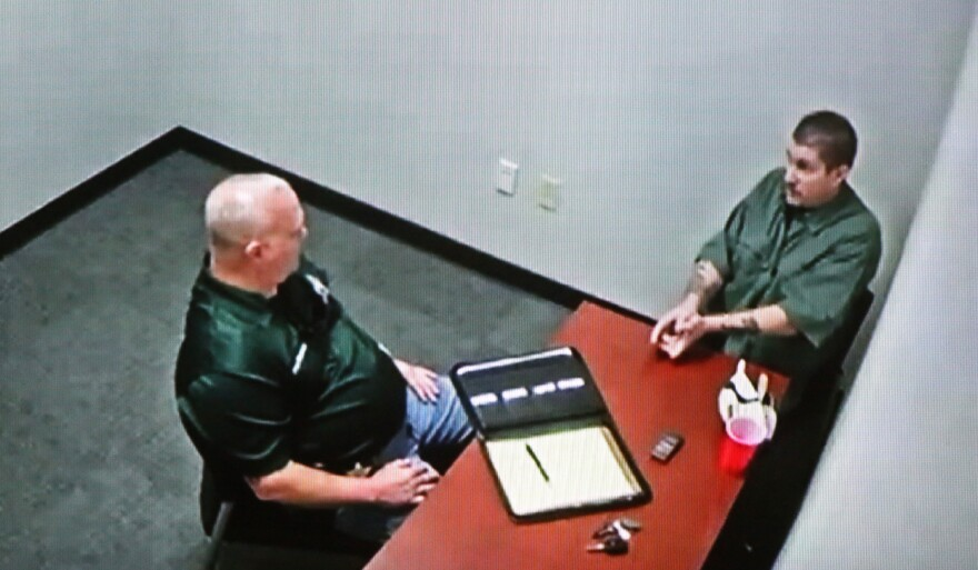 In a video shown to jurors during his manslaughter trial Thursday, Michael Drejka talks to Pinellas County Sheriffs detectives shortly after he killed Markeis McGlockton in a Clearwater parking lot in July 2018.