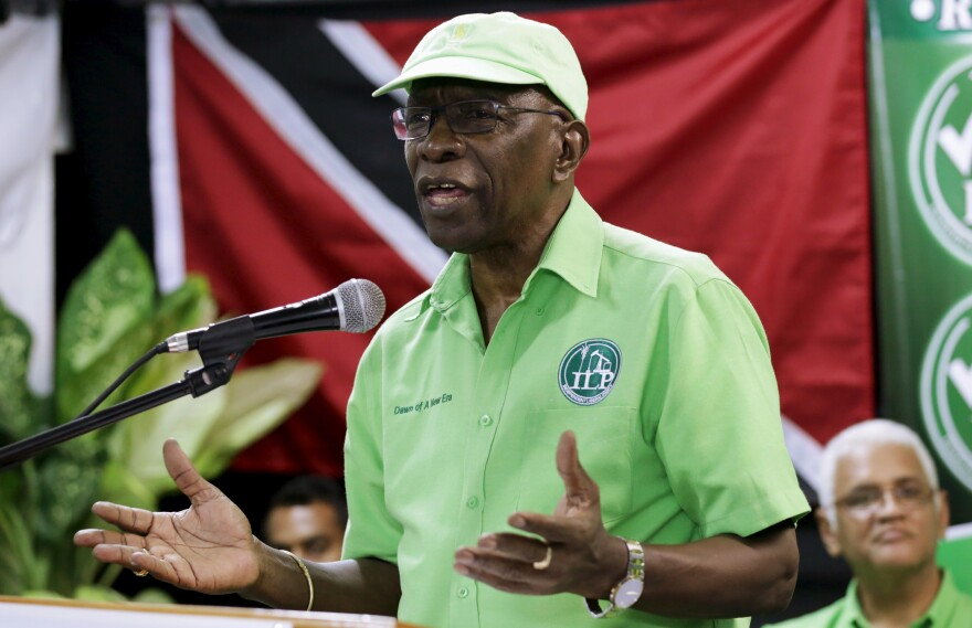 Former FIFA Vice President Jack Warner discussed records he has amassed about financial dealings in the embattled organization Wednesday.