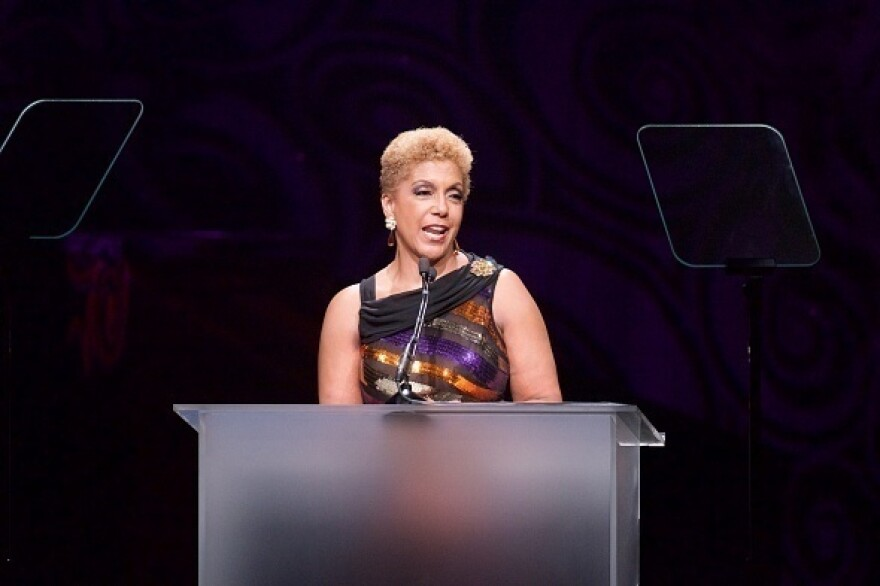 Chairman and CEO Linda Johnson Rice speaks at <em>Ebony</em> magazine's Power 100 Gala at the Beverly Hilton Hotel in Beverly Hills, Calif., last December.