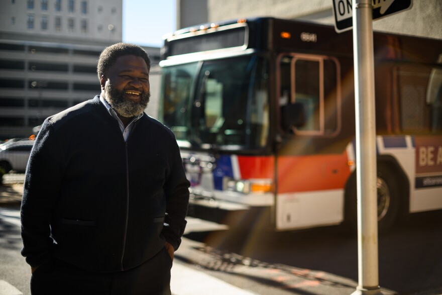 Demond Spiller has worked as a MetroBus driver for over 20 years. He typically spends 8 hours a day driving his routes.