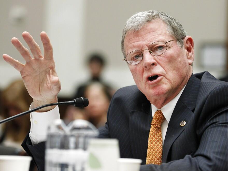 Sen. James Inhofe, R-Okla., testifies on Capitol Hill in Washington in 2011.