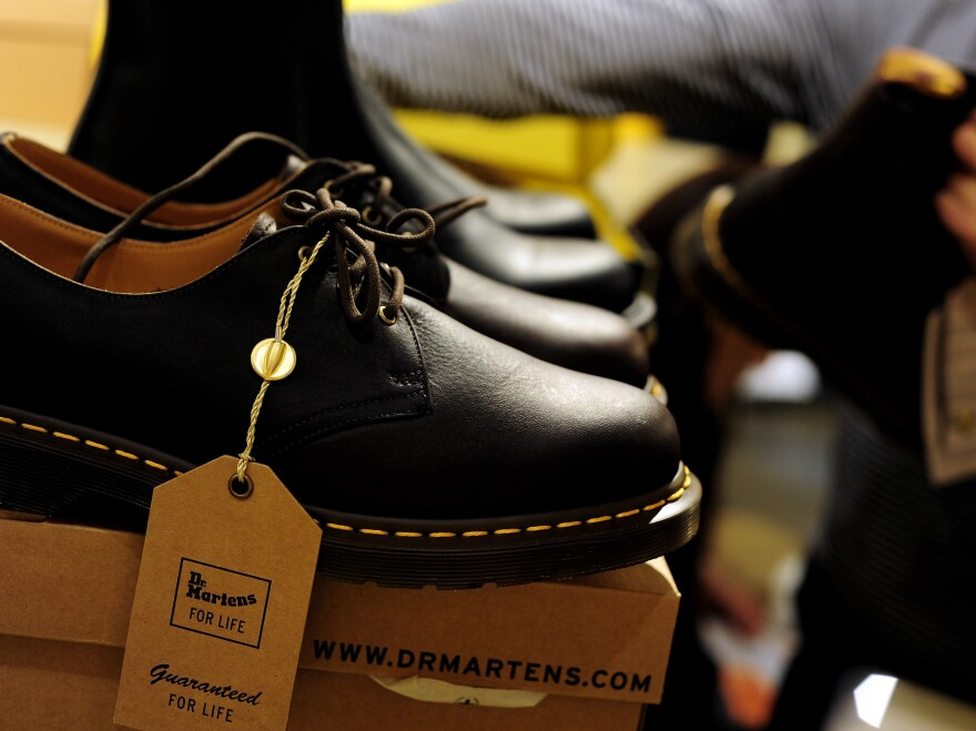 A general view inside the Dr. Martens central London store in 2010. The company sells more than 11 million pairs a year in more than 60 countries.