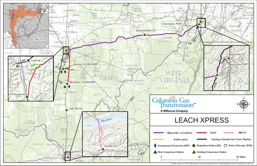 Columbia Pipeline Group's Leach XPress Pipeline