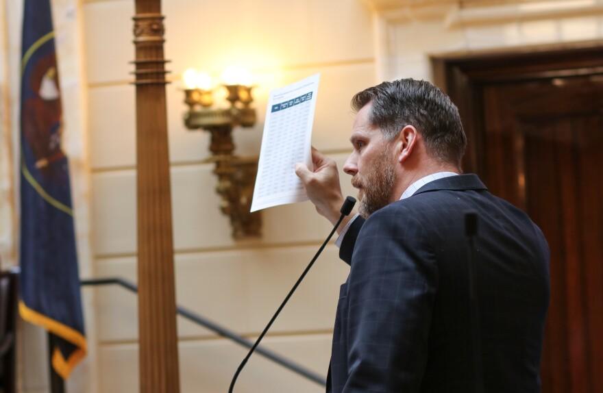 Photo of Sen. Jake Anderegg.
