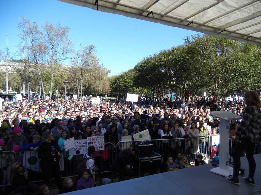 Crowd at climate rally