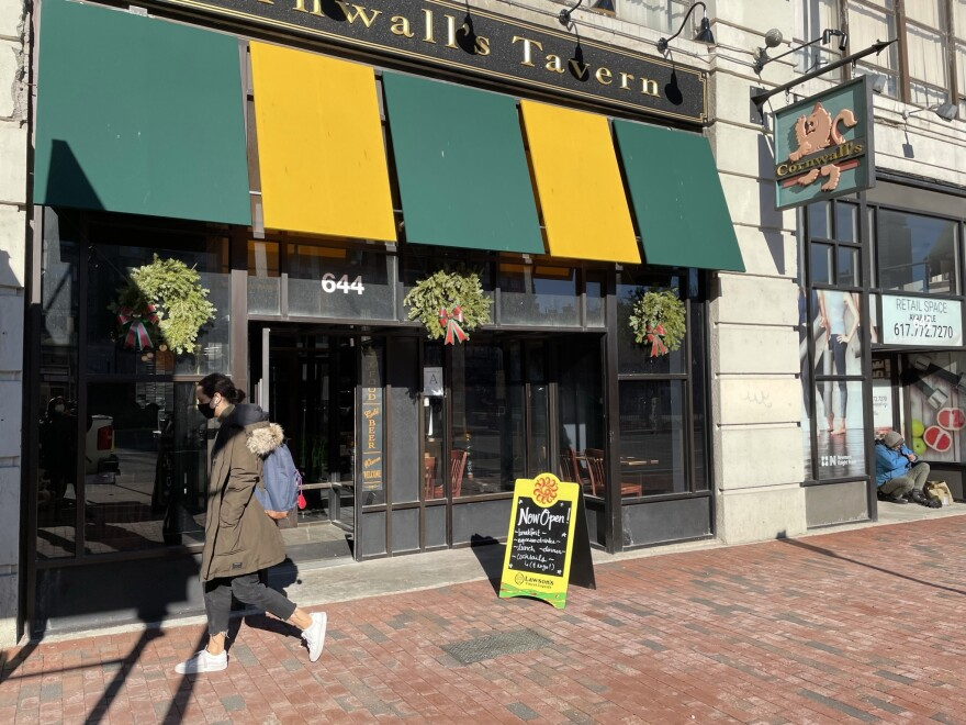 Cornwall's Tavern in Boston, Mass., would usually be bustling with holiday parties, but the restaurant is planning to close down temporarily, as COVID-19 cases surge and business plummets.