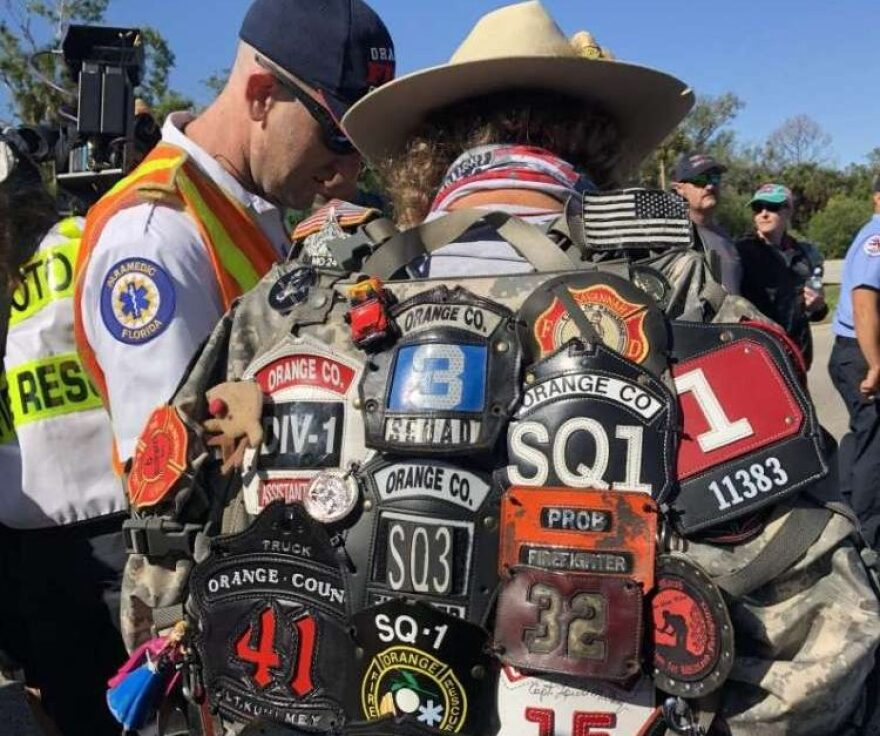 "Tom ""Bull"" Hill walked from Key West to Tallahassee with the ashes and badges of firefighters who died from cancer."