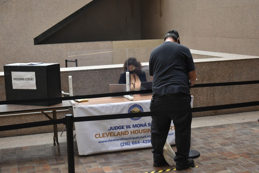 a photo of the entrance to Cleveland Housing Court