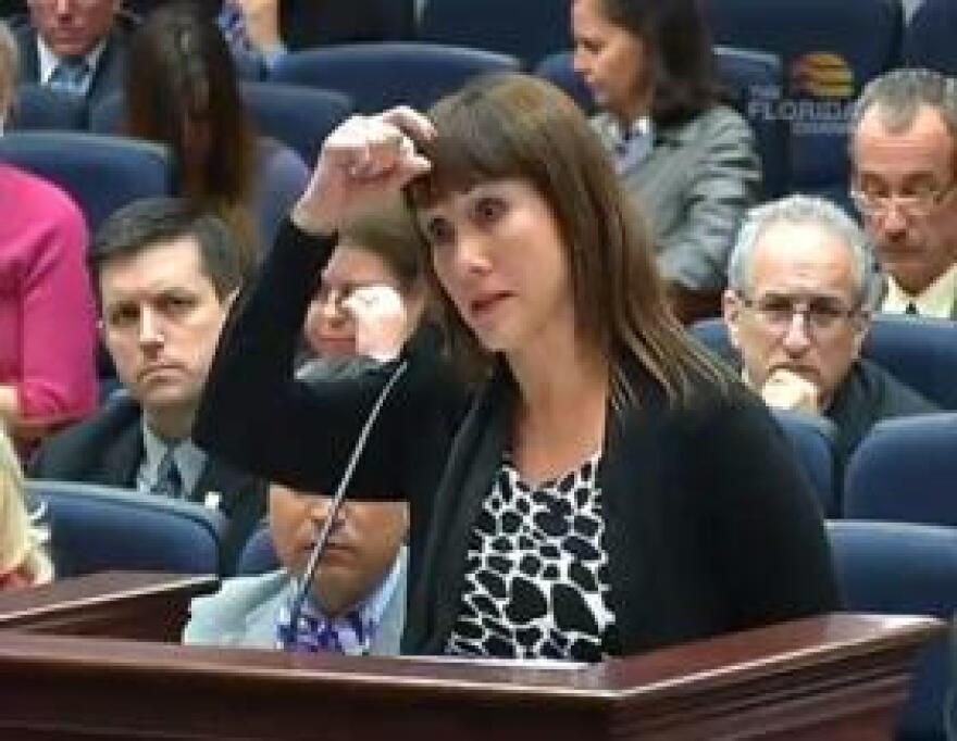 Rosalyn Deckerhoff testifies before the House Judiciary Committee about her son's seizure treatment, which has included surgery separating parts of his brain.