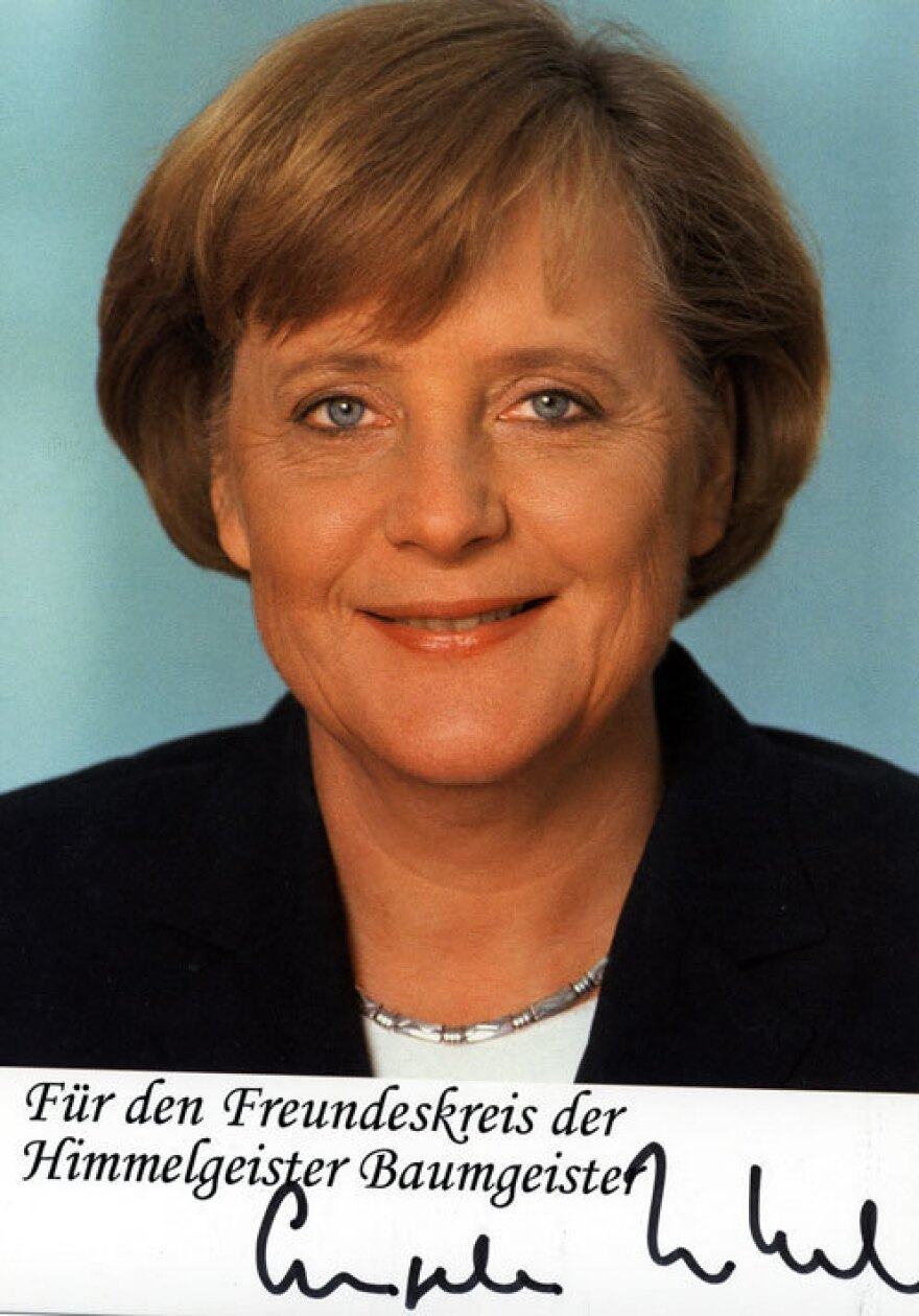 German chancellor Angela Merkel is one of the many people who has written to the tree.