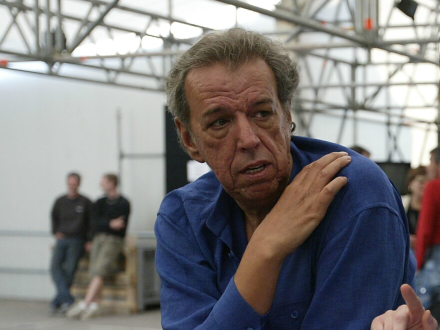 """Rod Temperton backstage during rehearsals for the """"We are the Future"""" all-star humanitarian concert, May 15, 2004 at Circus Maximus in Rome, Italy."""