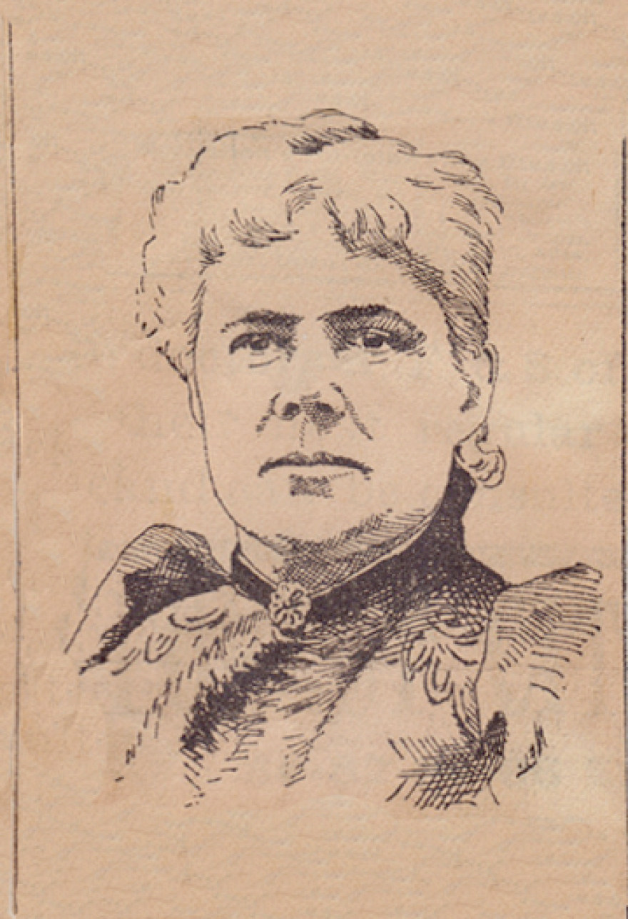 A drawing of Caroline McCullough Everhard.