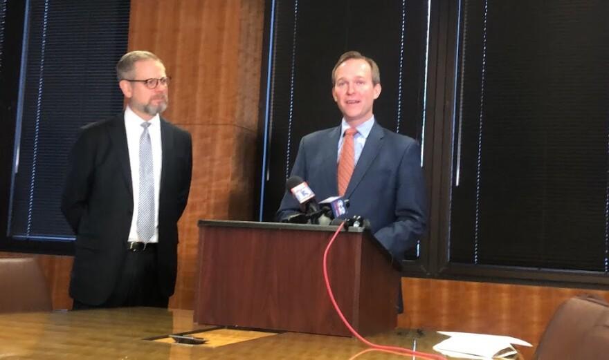 Photo of Congressman Ben McAdams and Utah-based lawyer Mark Pugsley