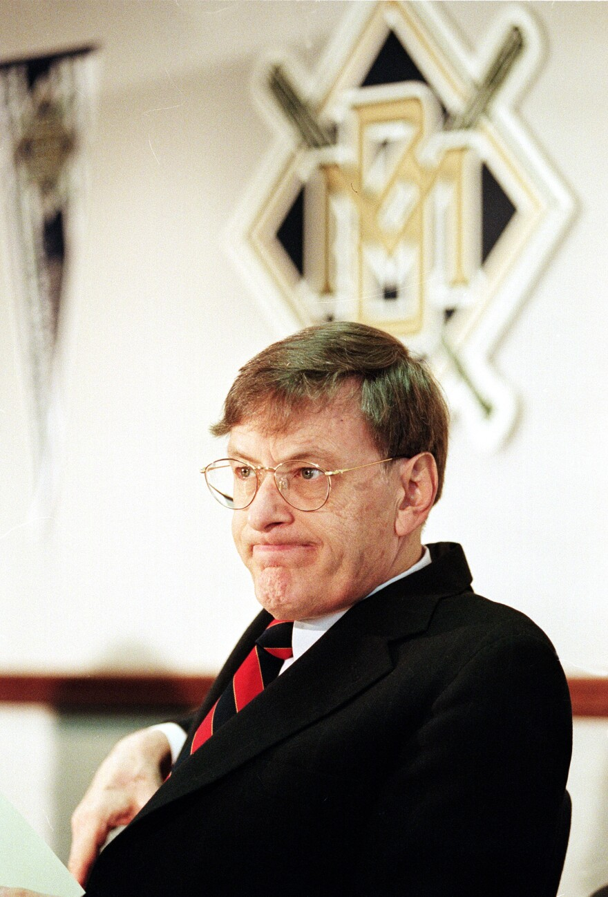 Selig, acting Baseball Commissioner of Major League Baseball and president of the Milwaukee Brewers, attends a news conference in Milwaukee, on Jan. 23, 1995, regarding the team's season ticket sales.