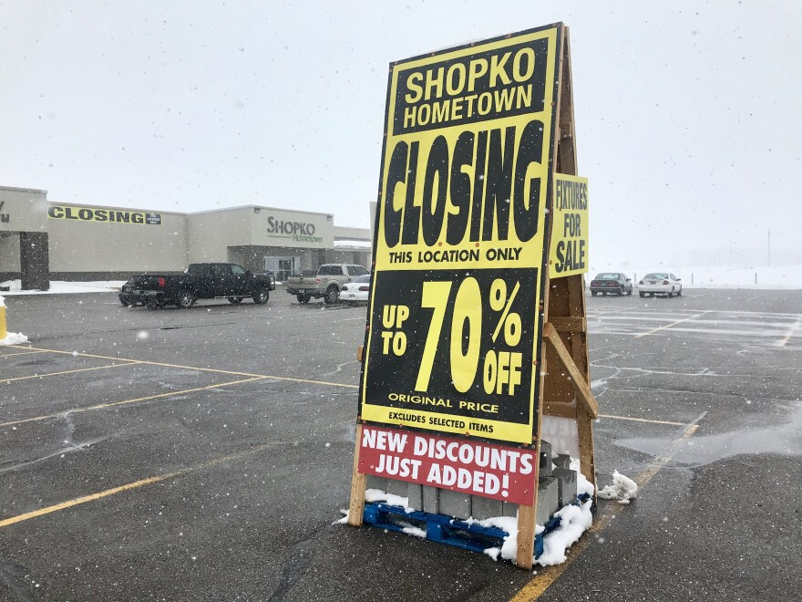 The Shopko in Bridger Valley, Wyoming, was home to the community's only pharmacy until it was shuttered in February. The store is set to close in May.