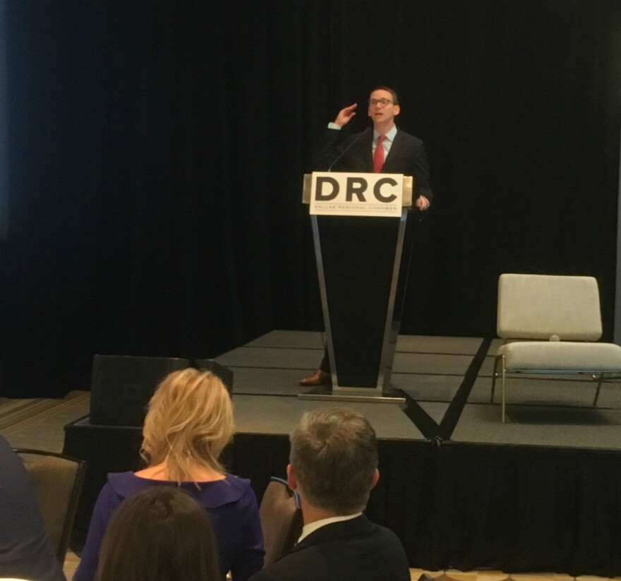 Texas Education Commissioner Mike Morath was back on home turf talking about notable improvements in public education Monday. He thanked a recent influx of state funding and policy changes from lawmakers. Morath used to be a Dallas school board member.