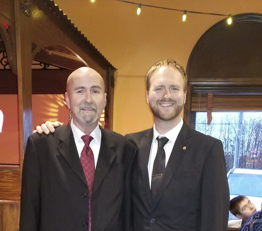 """Josh Hollifield with his father Alan Hollifield of Ellenboro, N.C., who died on Nov. 28, 2020. """"If there are 500,000 deaths, that's probably 3 million people who've experienced an incalculable tragedy,"""" Josh says."""