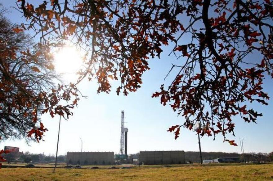 A Vantage Energy natural gas rig in southwest Arlington just south of Interstate 20, Monday, December 23, 2013