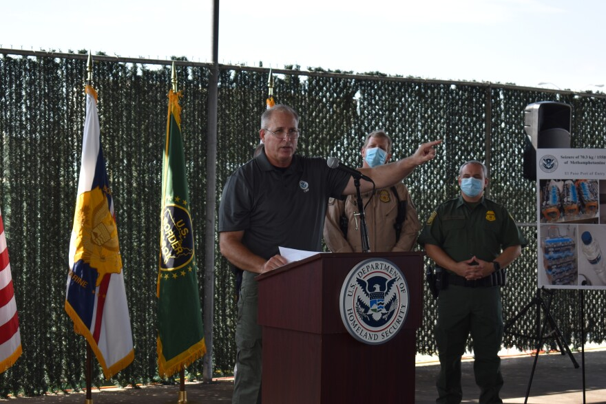 Acting Customs and Border Protection Commissioner Mark Morgan gave an update on the agency's work along the Southwest border at Laredo's World Trade Bridge on Friday, Sept. 4, 2020.