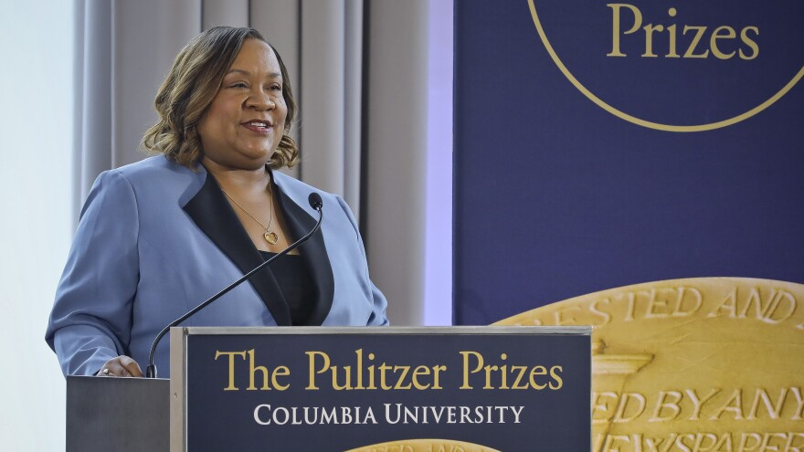 Dana Canedy announces 2019 Pulitzer winners at a ceremony in New York.