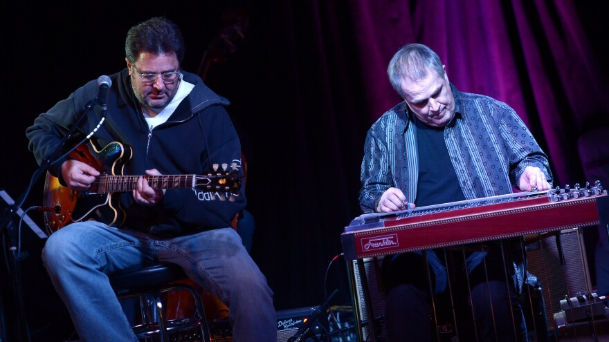 Vince Gill and Paul Franklin of The Time Jumpers perform at 3rd and Lindsley in 2014. The band has a standing Monday-night gig at the small Nashville club.