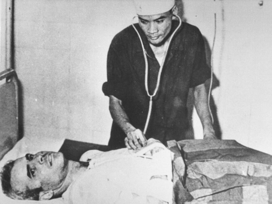 John McCain is treated in a Hanoi hospital during the Vietnam War in November 1967.