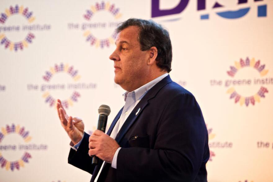 New Jersey Gov. Chris Christie says contemporary American politics are dominated by anger and fear. April 3, 2017.