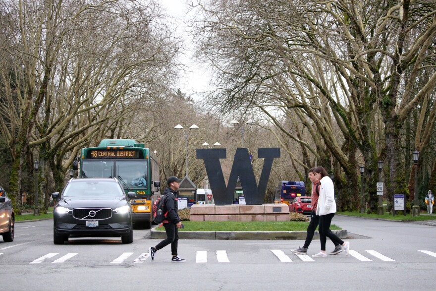 The University of Washington in Seattle is one of a growing number of U.S. campuses that have canceled in-person classes in response to the spread of the coronavirus.