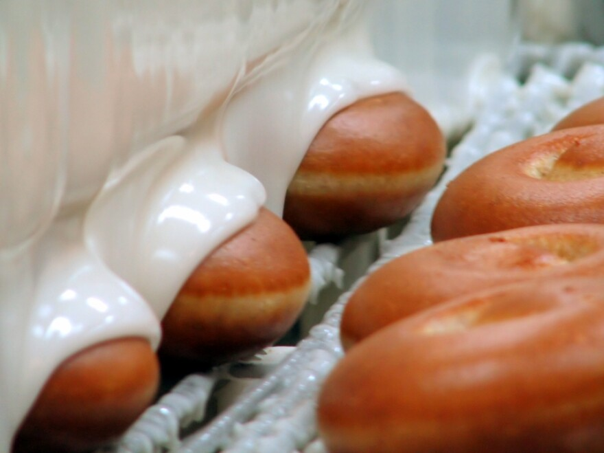 Krispy Kreme doughnuts.